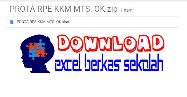 Aplikasi Prota Promes KKM MTs Kurikulum 2013 XLS