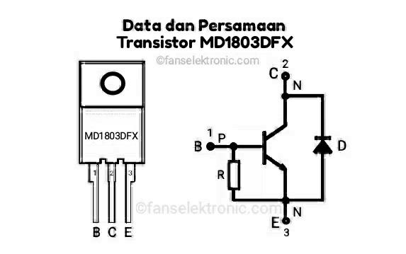 Persamaan Transistor MD1803DFX