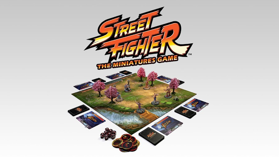 street fighter board game set
