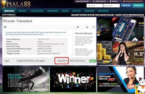 Selamat Kepada Member Setia PIALA88 Withdraw Rp 31.800.000