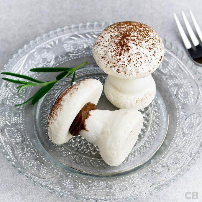 Recept Net echte grotchampignons: meringuepaddenstoeltjes