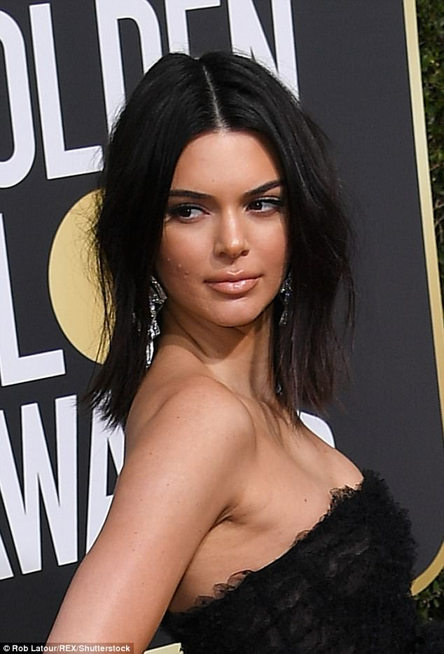 Kendall Jenner hits back at critics who ridiculed her acne at the Golden Globes