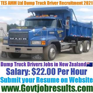 TES AMM Ltd Dump Truck Driver Recruitment 2021-22
