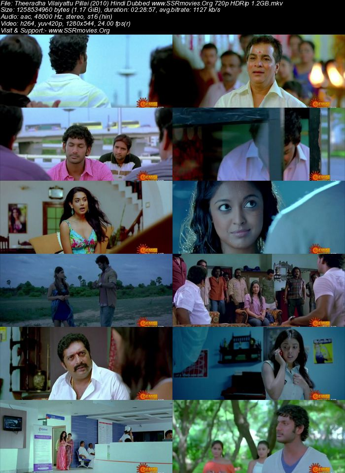 Theeradha Vilaiyattu Pillai (2010) Hindi Dubbed 720p HDTV