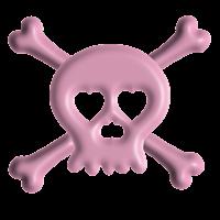 caveira rosa em png