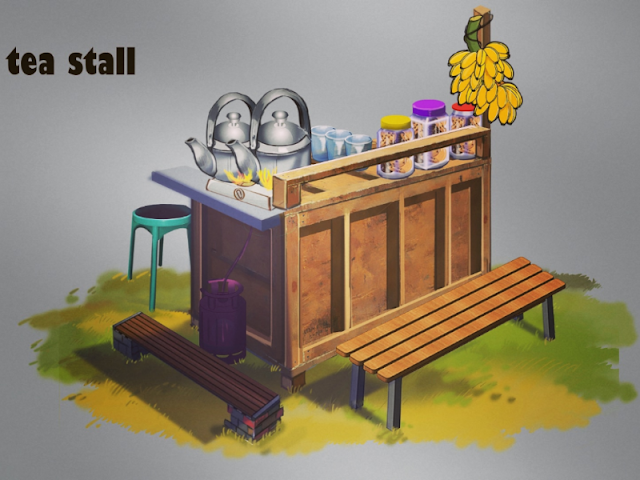 Paragraph A Tea Stall | Education Web