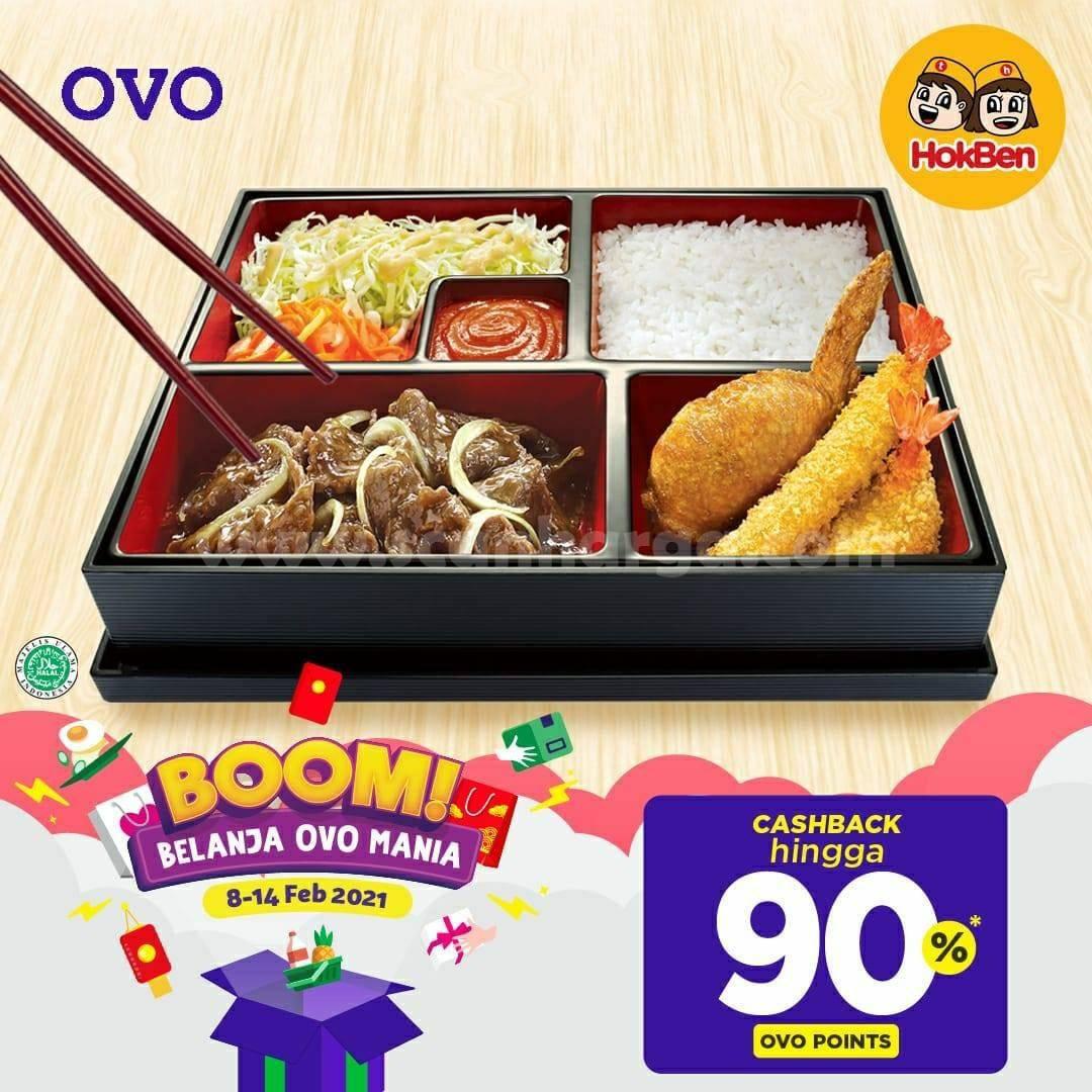 HOKBEN Promo Cashback hingga 90% dengan OVO Points