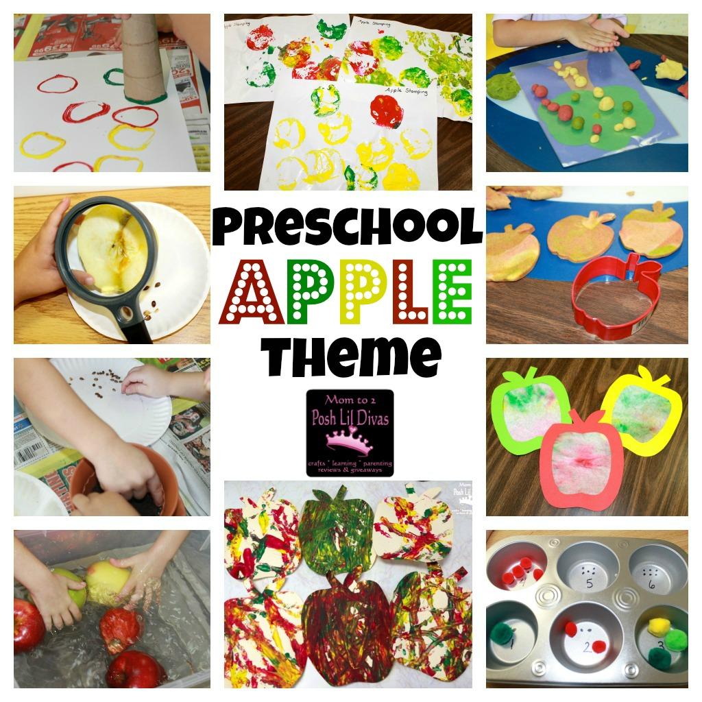 Preschool Apples Themed Posh Lil Craft Activities Crafts Activities Apples Week Through