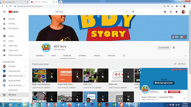 Penggunaan Youtube Sebagai Media Penjelasan Video