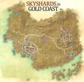 Gold Coast Skyshards Location Map The Elder Scrolls Online (ESO)