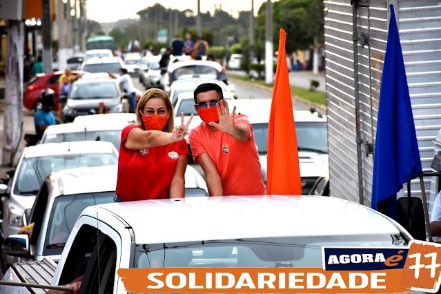 """Grande Carreata da """"Coligação Todos por Rosário"""" Alex da Farmácia e Mary Borges 77; FOTOS e VÍDEO!"""