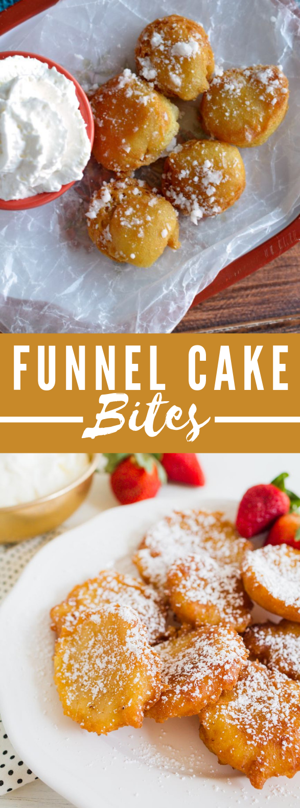 Funnel Cake Bites Recipe #desserts #sugar