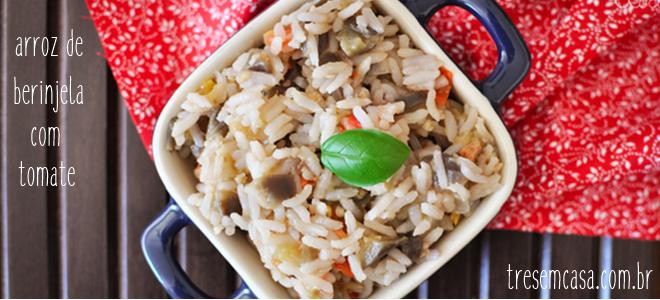 receita arroz berinjela e bacon