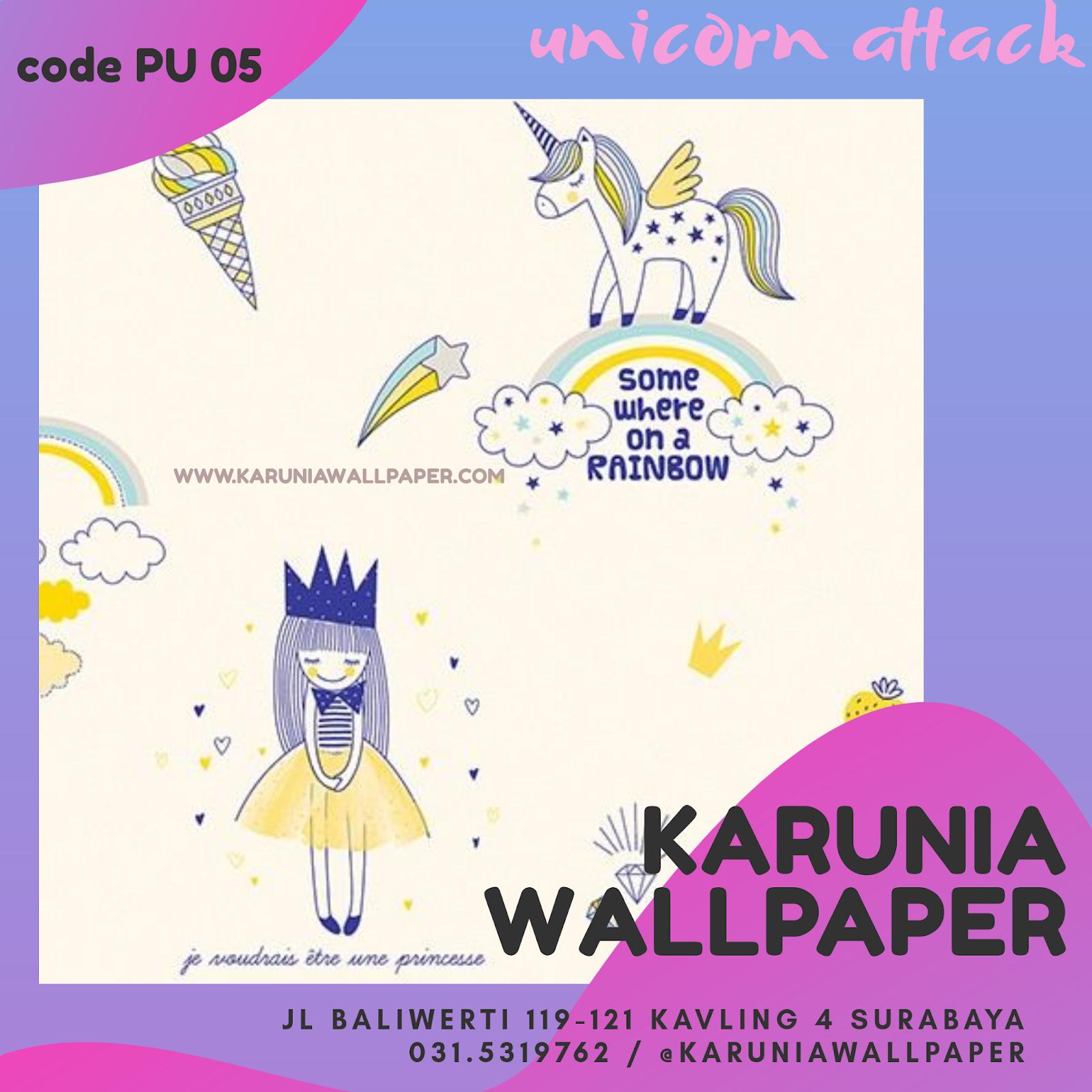jual wallpaper kamar anak unicorn