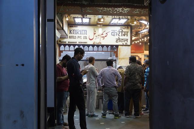 People at Karims Karim's mughlai food Jama Masjid in old delhi India during ramzan
