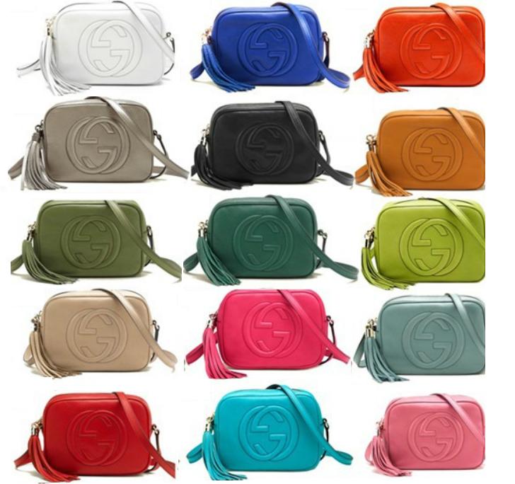 92bd0d480 Temos uma bolsa Gucci Disco muito linda e temos várias cores