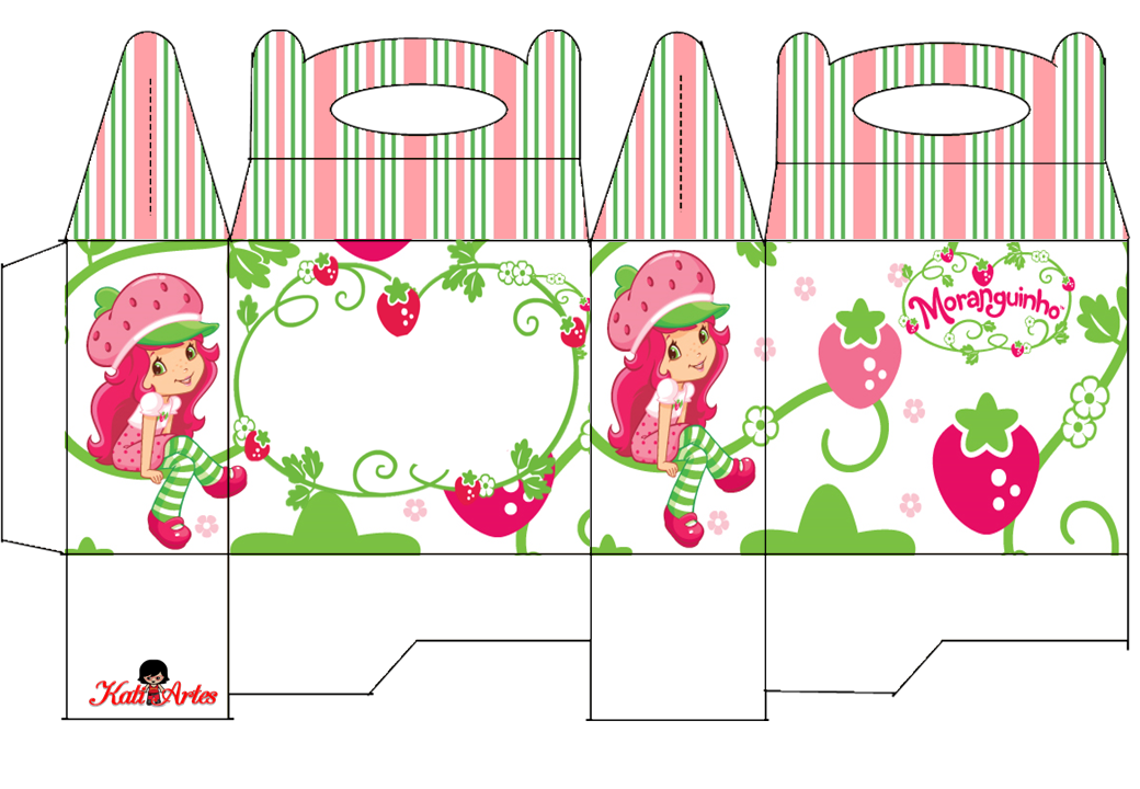 Strawberry Shortcake Free Printable Lunch Box.