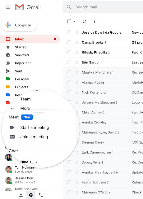 Start or Join a Google Meet Video Meeting Directly from Gmail 1