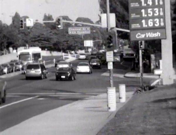 A screenshot from the full-screen version of THE CINEMATOGRAPHY PROJECT. Look at the gas prices back in 2002!