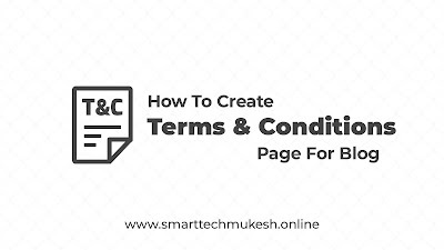 How To Create Terms & Conditions Page For Blog