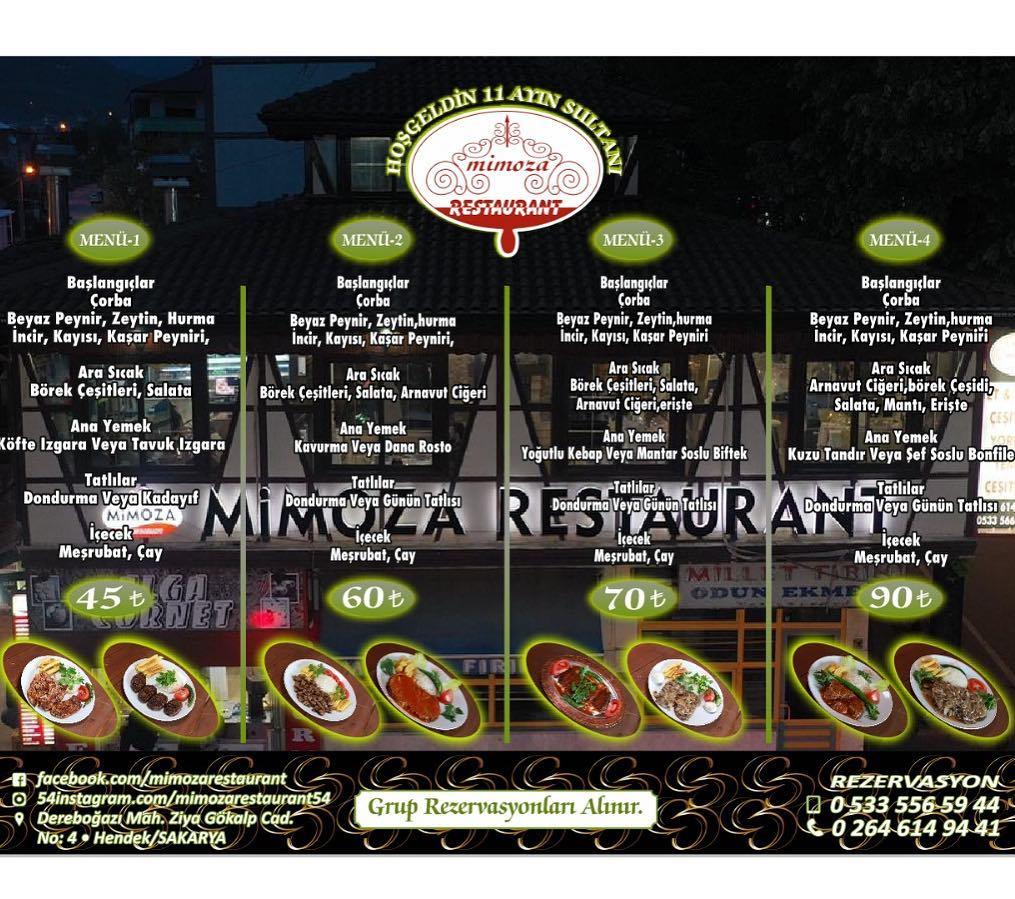 sakarya ramazan menüleri 2019 sakarya da iftar menü fiyatları sakarya uygun restaurant