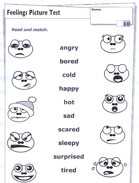 english activities   feelings
