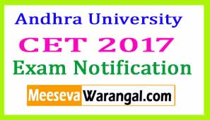Andhra University CET  Exam Notification
