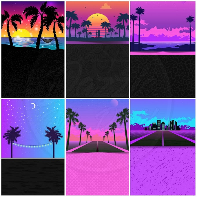 Miami Nights Wallpaper Set