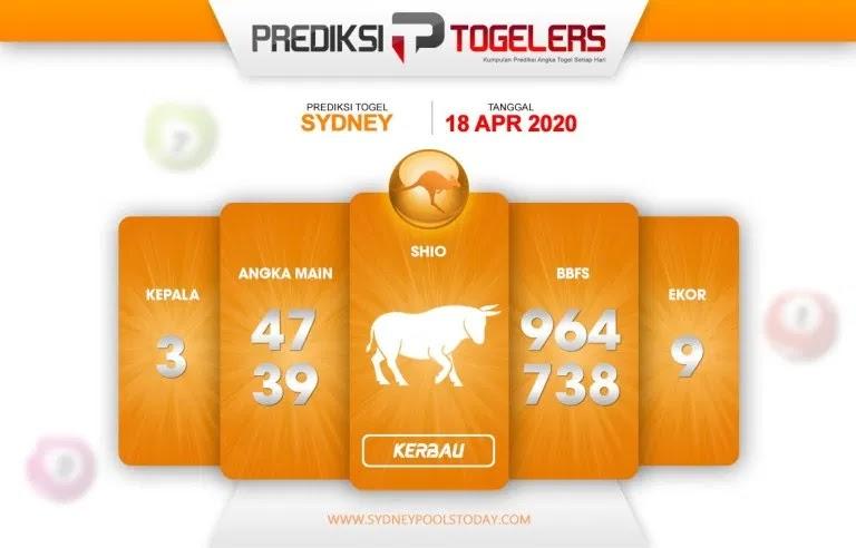 Prediksi Togel Sidney 18 April 2020 - Prediksi Togellers