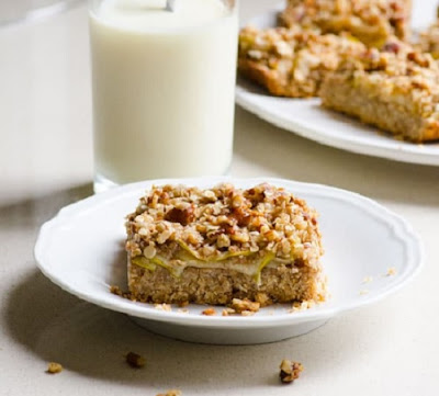 Apple Oatmeal Bars with Honey by ifoodreal