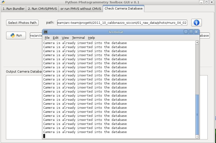 ATOR: New tutorial on Python Photogrammetry Toolbox: check camera
