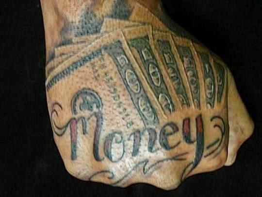 money bag tattoo designs