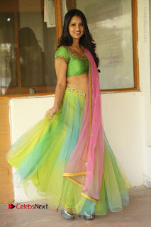 Actress Nikitha Bisht Stills in Lehenga Choli at Pochampally Ikat Art Mela Launch  0377.JPG