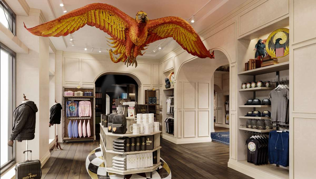 PHOTOS: The world of Harry Potter is in store in New York Hundreds of Harry Potter fans flocked Thursday to the opening of a store in New York dedicated to merchandise inspired by famous novels and films about the world's largest young wizard.