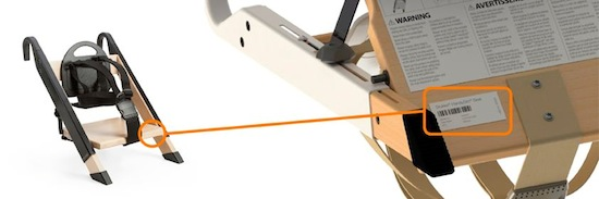 Stokke® HandySitt™ serial number location