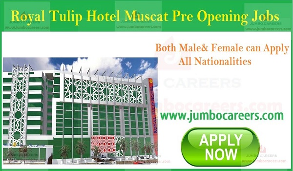 Available Hotel Jobs in Gulf countries, Current Hotel Jobs in Oman,