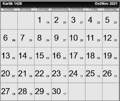 Bengali calendar 1428 [কার্ত্তিক ১৪২8]