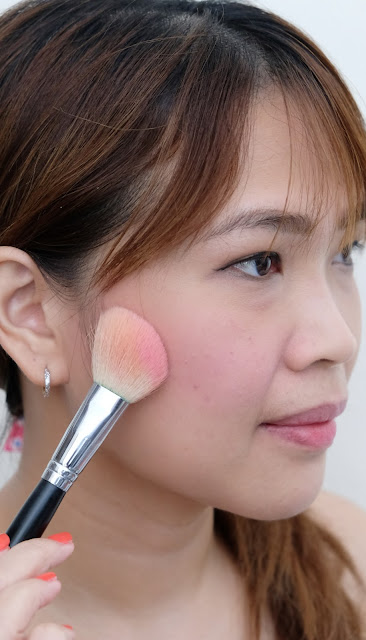 a photo of Flormar Satin Matte Blush in Pink Kiss and Coral Peach Review by Nikki Tiu of www.askmewhats.com
