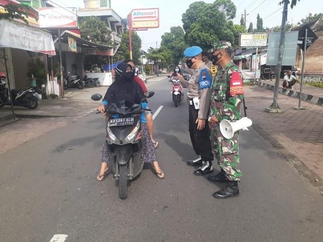 TNI POLRI Laksanakan Operasi Yustisi Jalur Lintas Kabupaten
