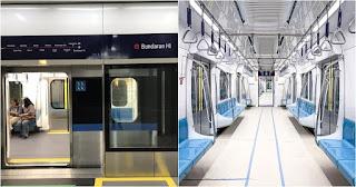 Angkutan/kendaraan umum di kota Jakara -  MRT / Ratangga