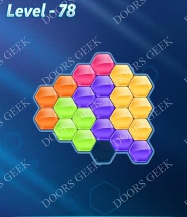 Block! Hexa Puzzle [Intermediate] Level 78 Solution, Cheats, Walkthrough for android, iphone, ipad, ipod