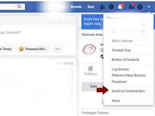 Beralih ke web facebook baru