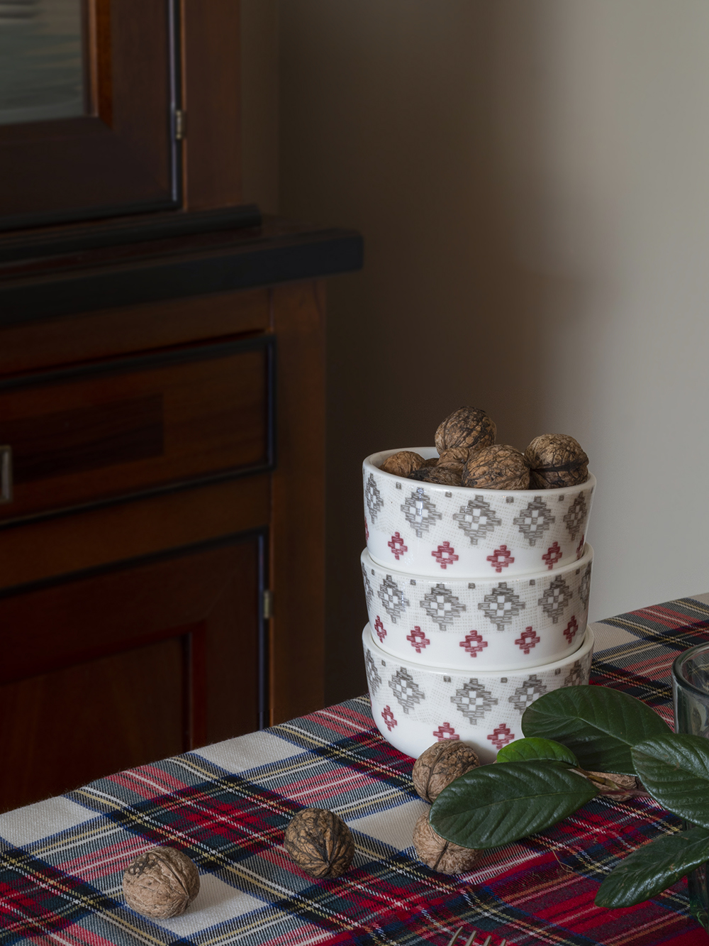 Nuestra mesa navideña en cuadros escoceses9