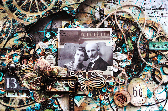 @marinasyskova #scrap #scrapbooking @7dotsstudio #mixedmedia #lo #layout #vintage