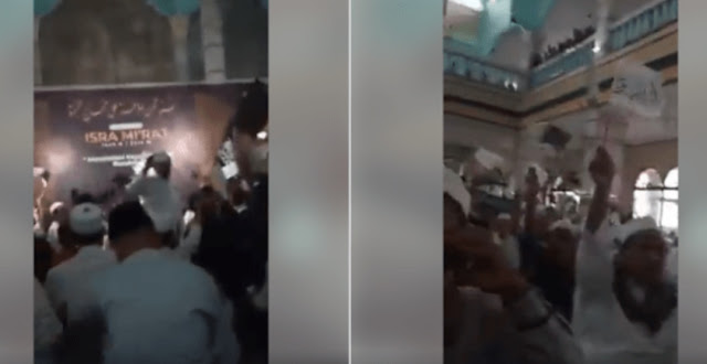 Berkedok Isra' Mi'raj, Pendukung HTI Teriak-teriak Khilafah