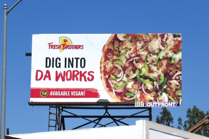 da works Fresh Brothers Pizza billboard