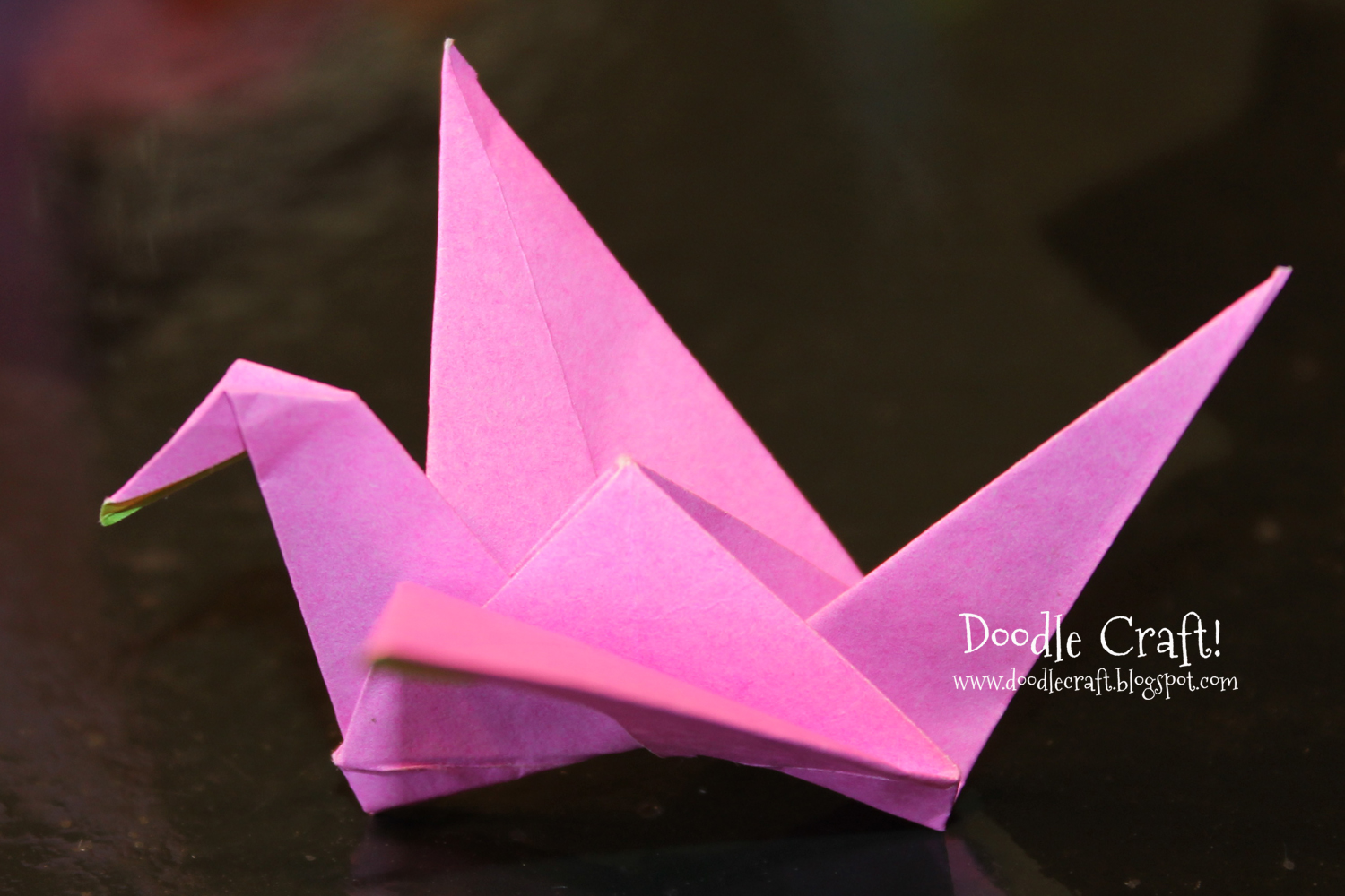 Doodlecraft origami flapping paper crane mobile for How to make something with newspaper