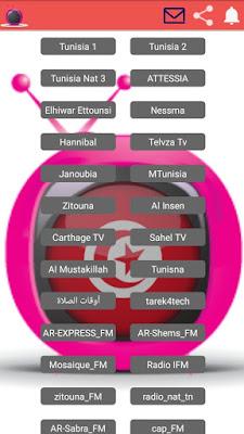 تطبيق مشاهدة القنوات التلفزية التونسية