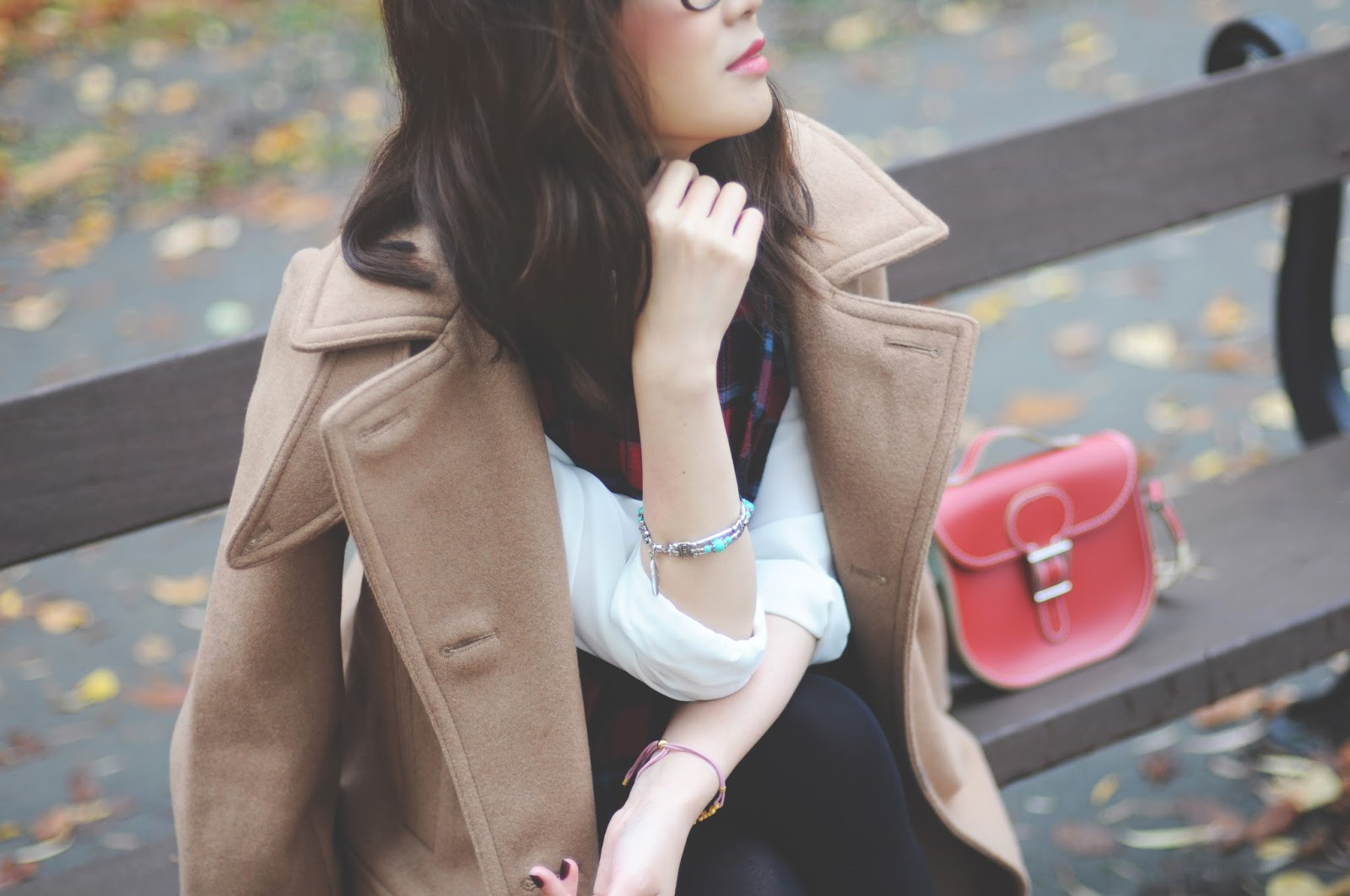 beige camel winter coat