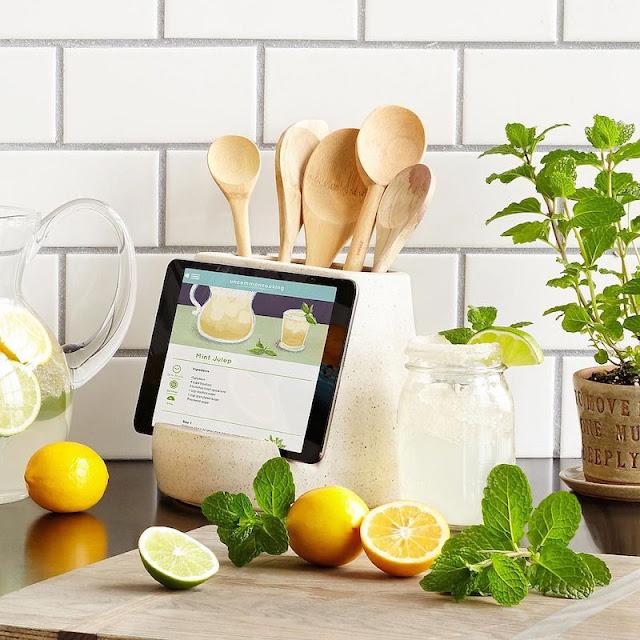 Kitchen Utensils and Tablet Holder